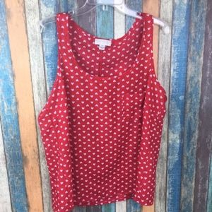 Forever 21 Plus Size Red Heart Tank Top 1X